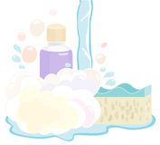 Ensemble de gel de douche Image stock