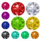 Ensemble de gemmes colorées Images stock