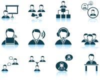 Ensemble de gens d'affaires d'icône Image libre de droits