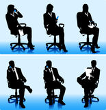 Ensemble de gens d'affaires de silhouettes Photos stock