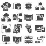 Ensemble de gestion des données Gray Icons relatif Illustration de Vecteur