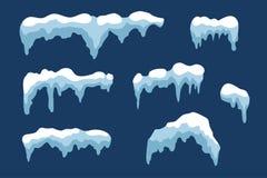 Ensemble de glaçon de glace de neige illustration libre de droits
