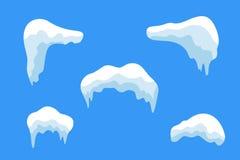 Ensemble de glaçon de glace de neige illustration de vecteur