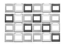 Ensemble de glissières de 35mm Image libre de droits
