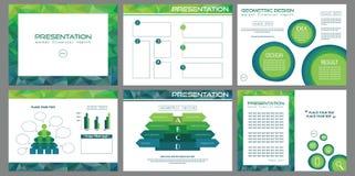 Ensemble de glissières de présentation de conception moderne Image libre de droits
