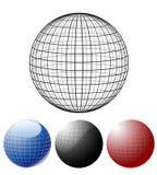 Ensemble de globes colorés illustration libre de droits