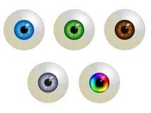 Ensemble de globes oculaires illustration libre de droits
