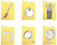 Ensemble de graphisme d'école illustration libre de droits