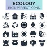 Ensemble de graphismes d'écologie Photographie stock libre de droits