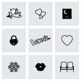 Ensemble de graphismes d'amour Illustration de vecteur Photos libres de droits