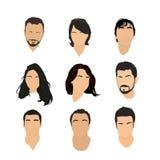 Ensemble de graphismes d'avatar Image stock