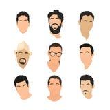 Ensemble de graphismes d'avatar Images stock