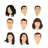 Ensemble de graphismes d'avatar illustration stock