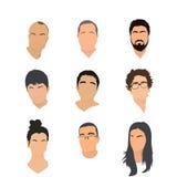 Ensemble de graphismes d'avatar Image libre de droits