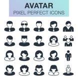 Ensemble de graphismes d'avatar Photos libres de droits
