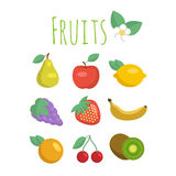 Ensemble de graphismes de fruit Photos libres de droits