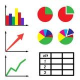 Ensemble de graphismes de l'information Images stock