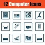 Ensemble de graphismes de l'ordinateur icons illustration stock