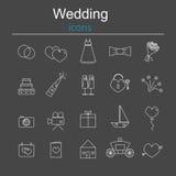 Ensemble de graphismes de mariage Photos libres de droits