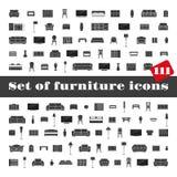 Ensemble de graphismes de meubles Photographie stock libre de droits