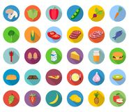 Ensemble de graphismes de nourriture Photo libre de droits