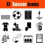 Ensemble de graphismes du football illustration libre de droits