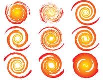 Ensemble de graphismes du soleil Image stock