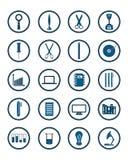 Ensemble de graphismes Outils d'éducation/affaires/travail/technologie/S Illustration Stock