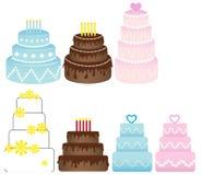 Ensemble de gâteaux Images libres de droits