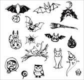 Ensemble de Halloween de bande dessinée Photos stock