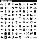 ensemble de hausse de l'icône 100, style simple illustration stock