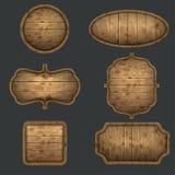 Ensemble de haute qualité d'enseignes en bois Images stock