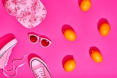Ensemble de hippie d'été de mode, citron Style minimal Image stock