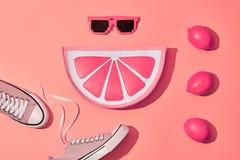 Ensemble de hippie d'été de mode, citron Style minimal Photos stock