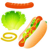 Ensemble de hot-dog Images stock