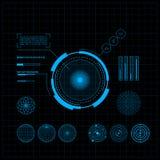 Ensemble de HUD et de GUI. Interface utilisateurs futuriste. Images stock