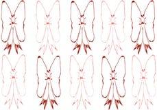 Ensemble de huit arcs colorés ; Rouge et rouge foncé Images libres de droits