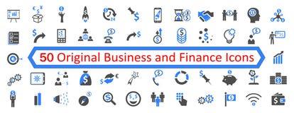 Ensemble 2 de 50 icônes d'affaires - vecteur Photographie stock