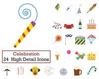 Ensemble de 24 icônes de partie illustration libre de droits