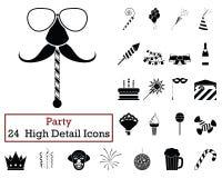 Ensemble de 24 icônes de partie illustration de vecteur