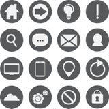 Ensemble de 16 icônes de Web Image libre de droits