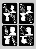 Ensemble de Jack de cartes de tisonnier Images libres de droits
