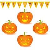 Ensemble de Jack O'Lantern de potiron de Halloween Photo stock