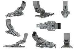 Ensemble de jambe de robot de la science fiction illustration libre de droits