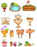 Ensemble de jardin de décoration Photo stock