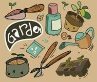 Ensemble de jardinage Image libre de droits