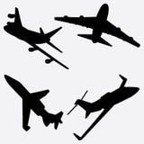 Ensemble de Jet Airplane Silhouette Vector Illustration illustration libre de droits
