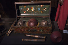 Ensemble de jeu de Quidditch Photos libres de droits