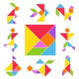Ensemble de jeu de Tangram illustration de vecteur