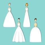 Ensemble de jeunes mariées Image stock